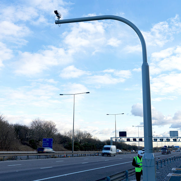 WEC CCTV pole on Highway