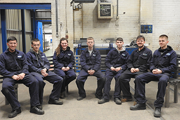 WEC Group Apprentices Manufacture bench for Hoddlesden Village