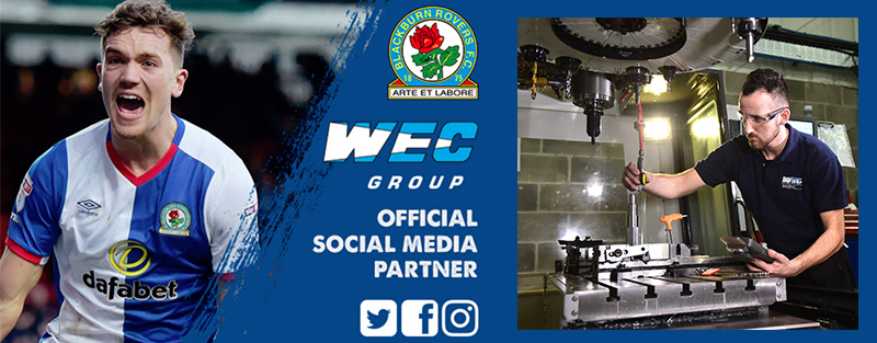 Blackburn Rovers social media sponsor banner