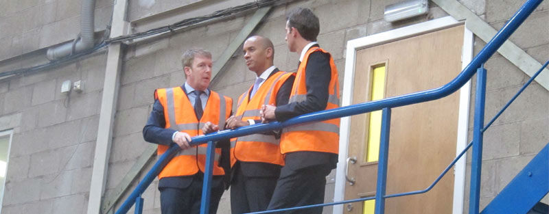 Wayne Wild with Chuka Umunna and Will Straw