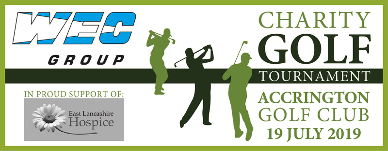 WEC Group Charity golf day banner 2019