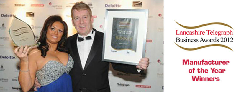 Wayne and Maxine Wild at Lancashire Telegraph Awards