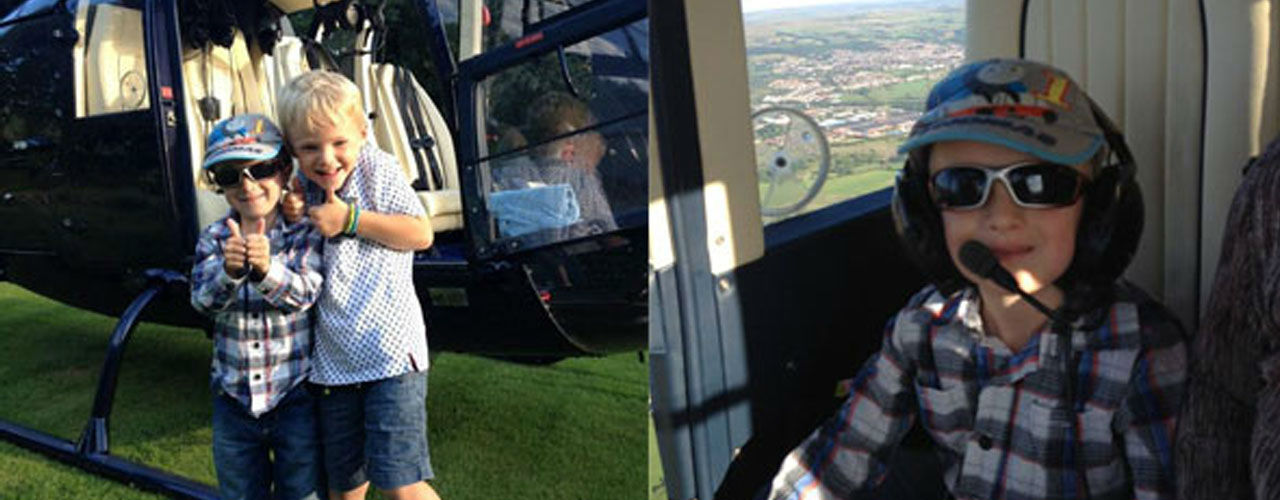 Sam Shaw on Helicopter Ride