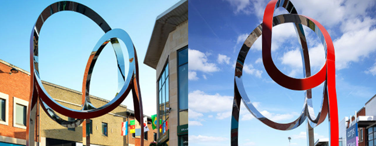 The swirl sculpture in Didcot