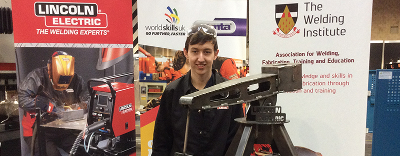 Tyler at WorldSkills Testing Dudley College