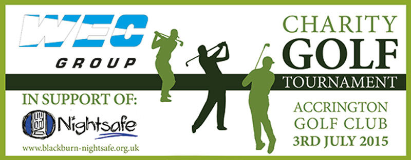 WEC Group charity golf day 2015 banner