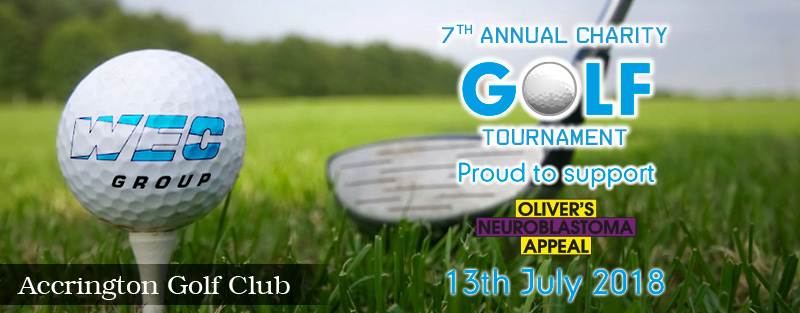 WEC Group charity golf day banner 2018