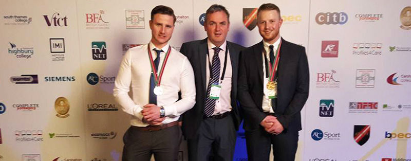 Chris Taylor Kris Mercer and Jonathan Holding at WorldSkills UK 2016