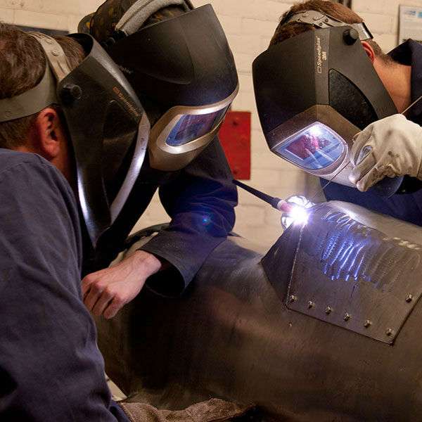 WEC Group apprentices welding