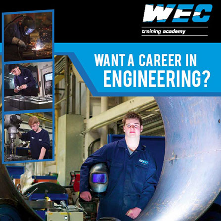 WEC Group training academy brochure front cover